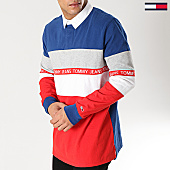 /achat-polos-manches-courtes/tommy-hilfiger-jeans-polo-manches-courtes-oversize-colorblock-6046-bleu-marine-rouge-blanc-167092.html