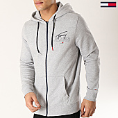 /achat-sweats-zippes-capuche/tommy-hilfiger-jeans-sweat-zippe-capuche-essential-graphic-6049-gris-chine-167159.html