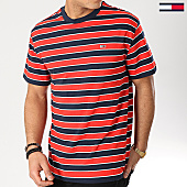 /achat-t-shirts/tommy-hilfiger-jeans-tee-shirt-bold-stripe-6066-rouge-bleu-marine-167173.html