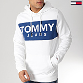 /achat-sweats-capuche/tommy-hilfiger-jeans-sweat-capuche-bold-logo-6106-blanc-167196.html