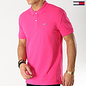 /achat-polos-manches-courtes/tommy-hilfiger-jeans-polo-manches-courtes-classic-6112-rose-167199.html