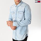 /achat-chemises-manches-longues/tommy-hilfiger-jeans-chemise-manches-longues-western-6154-bleu-wash-167219.html