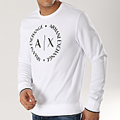 /achat-sweats-col-rond-crewneck/armani-exchange-sweat-crewneck-8nzm87-z9n1z-blanc-167384.html
