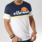 /achat-t-shirts/ellesse-tee-shirt-tricolore-1031n-blanc-bleu-marine-jaune-167304.html