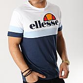 /achat-t-shirts/ellesse-tee-shirt-tricolore-1031n--bleu-marine-bleu-clair-blanc-167305.html