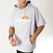 /achat-sweats-capuche/ellesse-sweat-capuche-manches-courtes-1032n-gris-chine-167340.html
