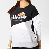 /achat-sweats-col-rond-crewneck/ellesse-sweat-crewneck-femme-tricolore-1076n-noir-gris-chine-blanc-167362.html