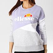/achat-sweats-col-rond-crewneck/ellesse-sweat-crewneck-femme-tricolore-1076n-lavande-gris-chine-blanc-167364.html