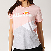 /achat-t-shirts/ellesse-tee-shirt-femme-tricolore-1074n-rose-gris-chine-blanc-167409.html