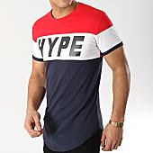 /achat-t-shirts-longs-oversize/john-h-tee-shirt-oversize-1895-bleu-marine-blanc-rouge-167292.html