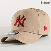 /achat-casquettes-de-baseball/new-era-casquette-enfant-league-essential-new-york-yankees-11871492-beige-rouge-167497.html