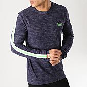 /achat-t-shirts-manches-longues/superdry-tee-shirt-manches-longues-a-bandes-orange-label-vintage-bleu-marine-chine-167279.html