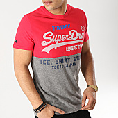 /achat-t-shirts/superdry-tee-shirt-shop-tri-panel-rouge-gris-chine-167296.html