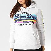 /achat-sweats-capuche/superdry-sweat-capuche-femme-avec-bandes-logo-retro-rainbow-g20123tt-gris-chine-167406.html