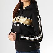 /achat-sweats-capuche/superdry-sweat-capuche-crop-femme-avec-bandes-alice-g20103dt-noir-dore-167420.html
