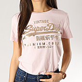 /achat-t-shirts/superdry-tee-shirt-femme-premium-good-puff-g10132tt-rose-dore-167465.html