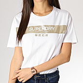 /achat-t-shirts/superdry-tee-shirt-femme-premium-bande-foil-g10149yt-blanc-dore-167467.html