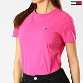 /achat-t-shirts/tommy-hilfiger-jeans-tee-shirt-femme-classics-4681-rose-167308.html