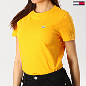 /achat-t-shirts/tommy-hilfiger-jeans-tee-shirt-femme-classics-4681-jaune-167309.html