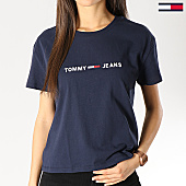 /achat-t-shirts/tommy-hilfiger-jeans-tee-shirt-femme-clean-boxy-logo-5455-167310.html