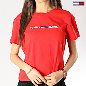 /achat-t-shirts/tommy-hilfiger-jeans-tee-shirt-femme-clean-boxy-logo-5455-rouge-167311.html