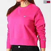 /achat-sweats-col-rond-crewneck/tommy-hilfiger-jeans-sweat-crewneck-crop-femme-side-seam-6123-rose-167314.html