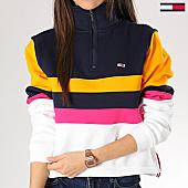 /achat-sweats-col-zippe/tommy-hilfiger-jeans-sweat-col-zippe-femme-colorblock-6133-blanc-bleu-marine-rose-jaune-167317.html
