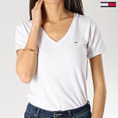/achat-t-shirts/tommy-hilfiger-jeans-tee-shirt-femme-stretch-6320-blanc-167318.html