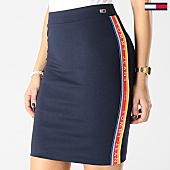 /achat-jupes/tommy-hilfiger-jeans-jupe-femme-avec-bandes-solid-bodycon-bleu-marine-167321.html