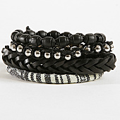 /achat-bracelets/deeluxe-lot-de-4-bracelets-apache-noir-blanc-167711.html