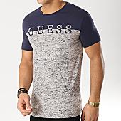 /achat-t-shirts/guess-tee-shirt-u92m03jr00a-bleu-marine-ecru-chine-167671.html