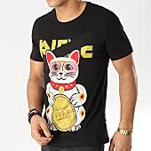 /achat-t-shirts/jeune-riche-tee-shirt-strass-chat-noir-167703.html