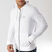 /achat-sweats-zippes-capuche/armani-exchange-sweat-zippe-capuche-8nzm74-z9n1z-blanc-167800.html