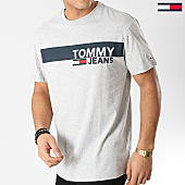/achat-t-shirts/tommy-hilfiger-jeans-tee-shirt-box-logo-6089-gris-chine-167760.html