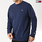 /achat-sweats-col-rond-crewneck/tommy-hilfiger-jeans-sweat-crewneck-classics-5496-bleu-marine-167777.html