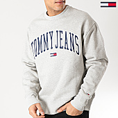 /achat-sweats-col-rond-crewneck/tommy-hilfiger-jeans-sweat-crewneck-clean-collegiate-5945-gris-chine-167779.html