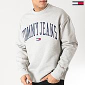/achat-sweats-col-rond-crewneck/tommy-jeans-sweat-crewneck-clean-collegiate-5945-gris-chine-167779.html