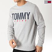 /achat-sweats-col-rond-crewneck/tommy-hilfiger-jeans-sweat-crewneck-essential-logo-6291-gris-chine-167780.html