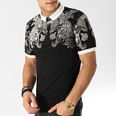 /achat-polos-manches-courtes/classic-series-polo-manches-courtes-528-noir-floral-167869.html