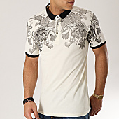 /achat-polos-manches-courtes/classic-series-polo-manches-courtes-528-ecru-floral-167870.html