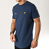 /achat-t-shirts-longs-oversize/ellesse-tee-shirt-oversize-a-bandes-fede-sha05907-bleu-marine-167879.html