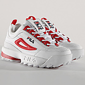 /achat-baskets-basses/fila-baskets-femme-disruptor-cb-low-1010604-02a-white-red-167963.html