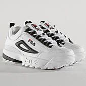 /achat-baskets-basses/fila-baskets-femme-disruptor-cb-low-1010604-00e-white-black-167964.html