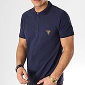 /achat-polos-manches-courtes/guess-polo-manches-courtes-f92h00jr02d-bleu-marine-167856.html