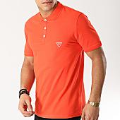 /achat-polos-manches-courtes/guess-polo-manches-courtes-f92h00jr02d-orange-167858.html