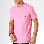 /achat-polos-manches-courtes/guess-polo-manches-courtes-f92h00jr02d-rose-167859.html
