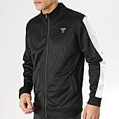 /achat-vestes/guess-veste-zippee-avec-bandes-u92q08fl01u-noir-blanc-167862.html