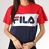 /achat-t-shirts/fila-tee-shirt-crop-femme-allison-682125-bleu-marine-blanc-rouge-168105.html
