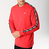 /achat-sweats-col-rond-crewneck/fila-sweat-crewneck-bande-brodee-aren-682363-rouge-168108.html