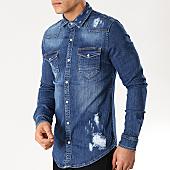 /achat-chemises-manches-longues/grj-denim-chemise-jean-manches-longues-13549-bleu-brut-168004.html